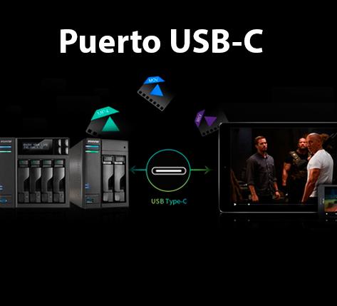 Puerto USB-C par uan mayor velocidad de transferencia