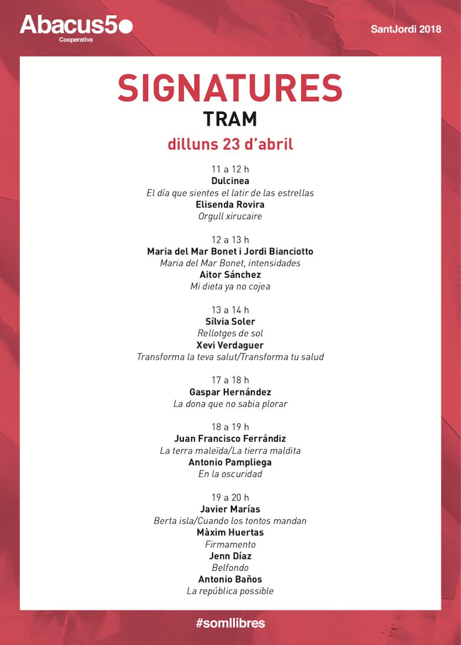 TRAM - Abacus - Autors Sant Jordi