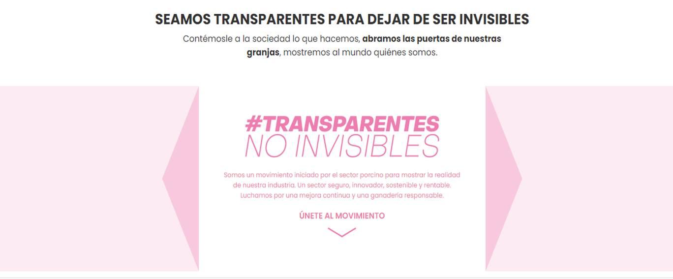 Ser transparentes para hacernos más visibles
