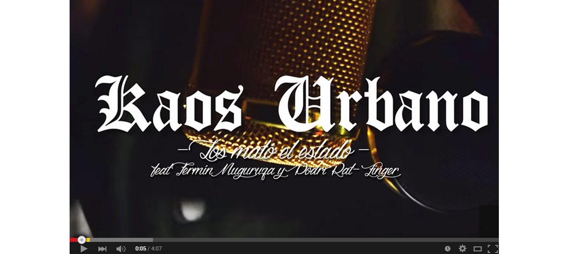 Escucha ´Los mató el estado´, el nuevo single de Kaos Urbano con Fermín Muguruza y Podri de Rat-Zinger