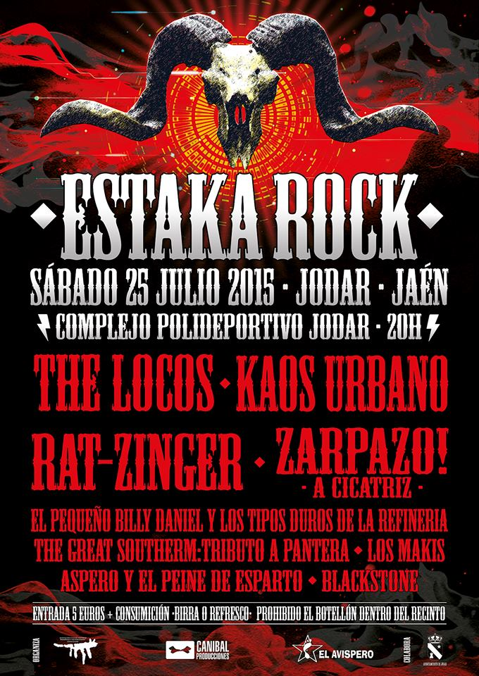 Cartel ESTAKA ROCK 2015