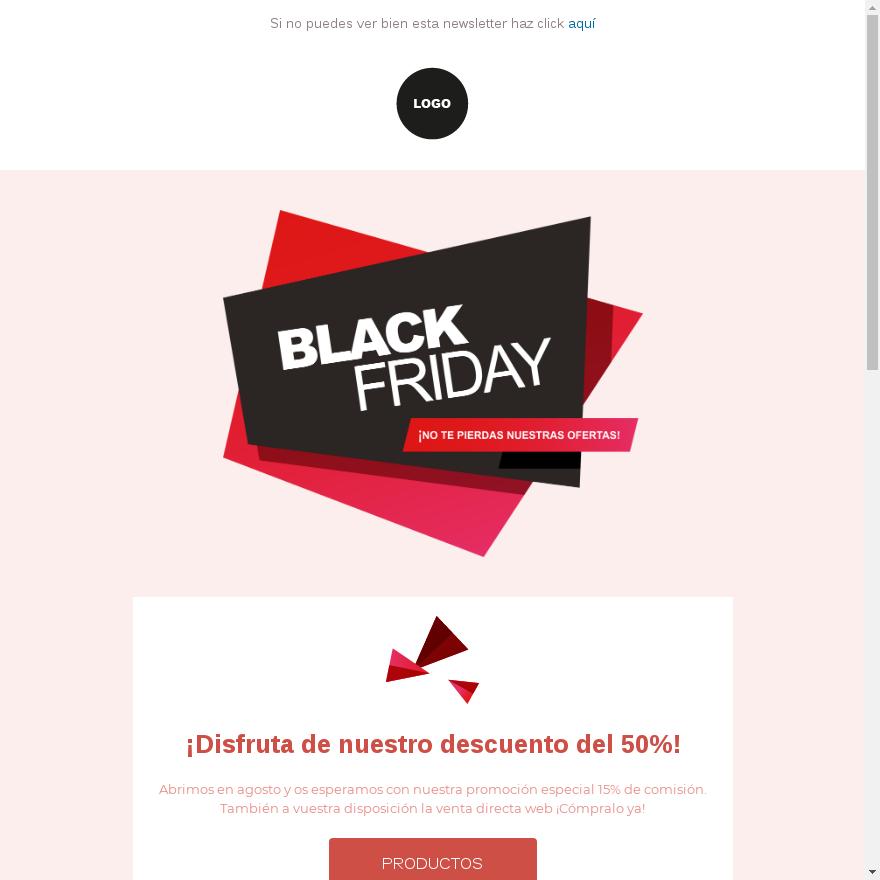 Plantilla de email marketing para el Black Friday