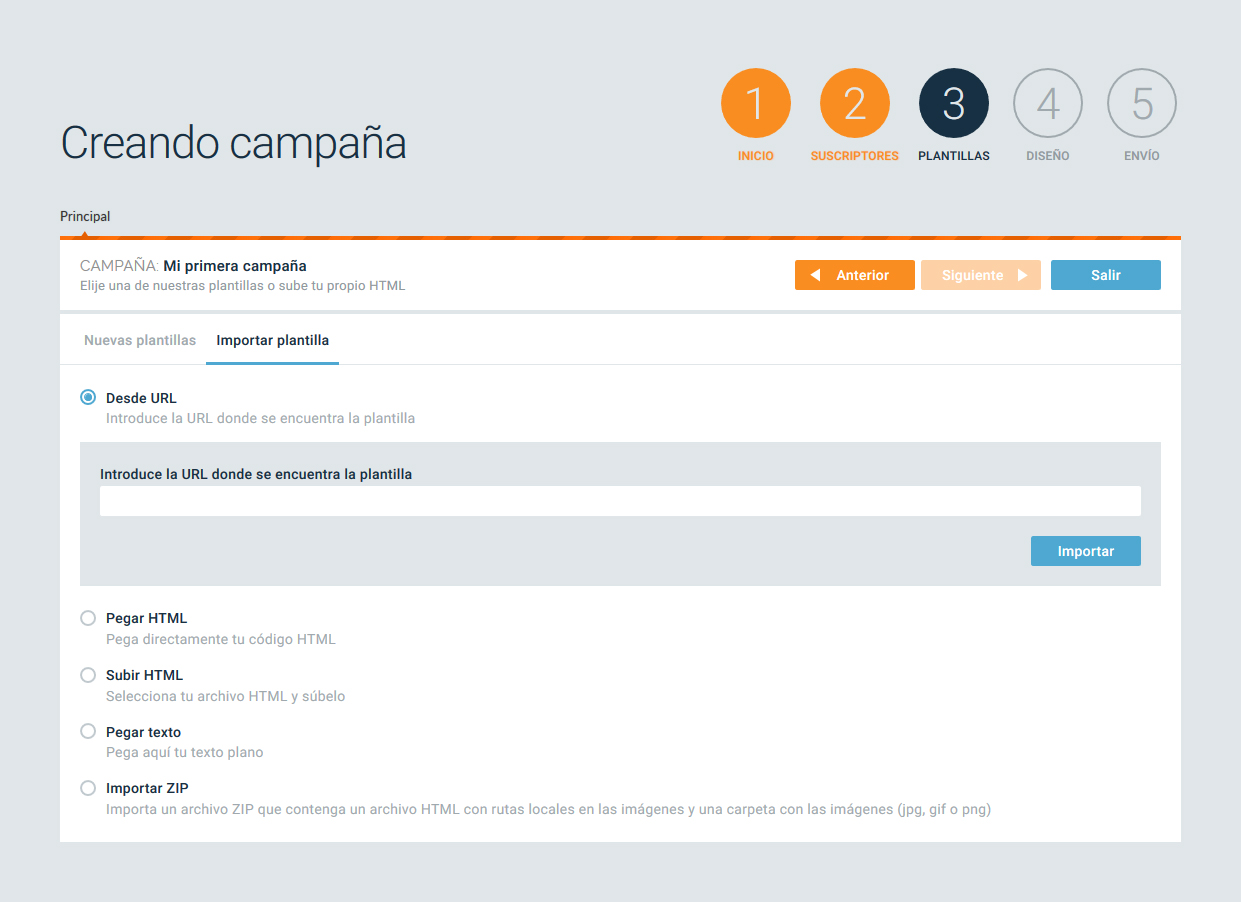 creando campaña email marketing