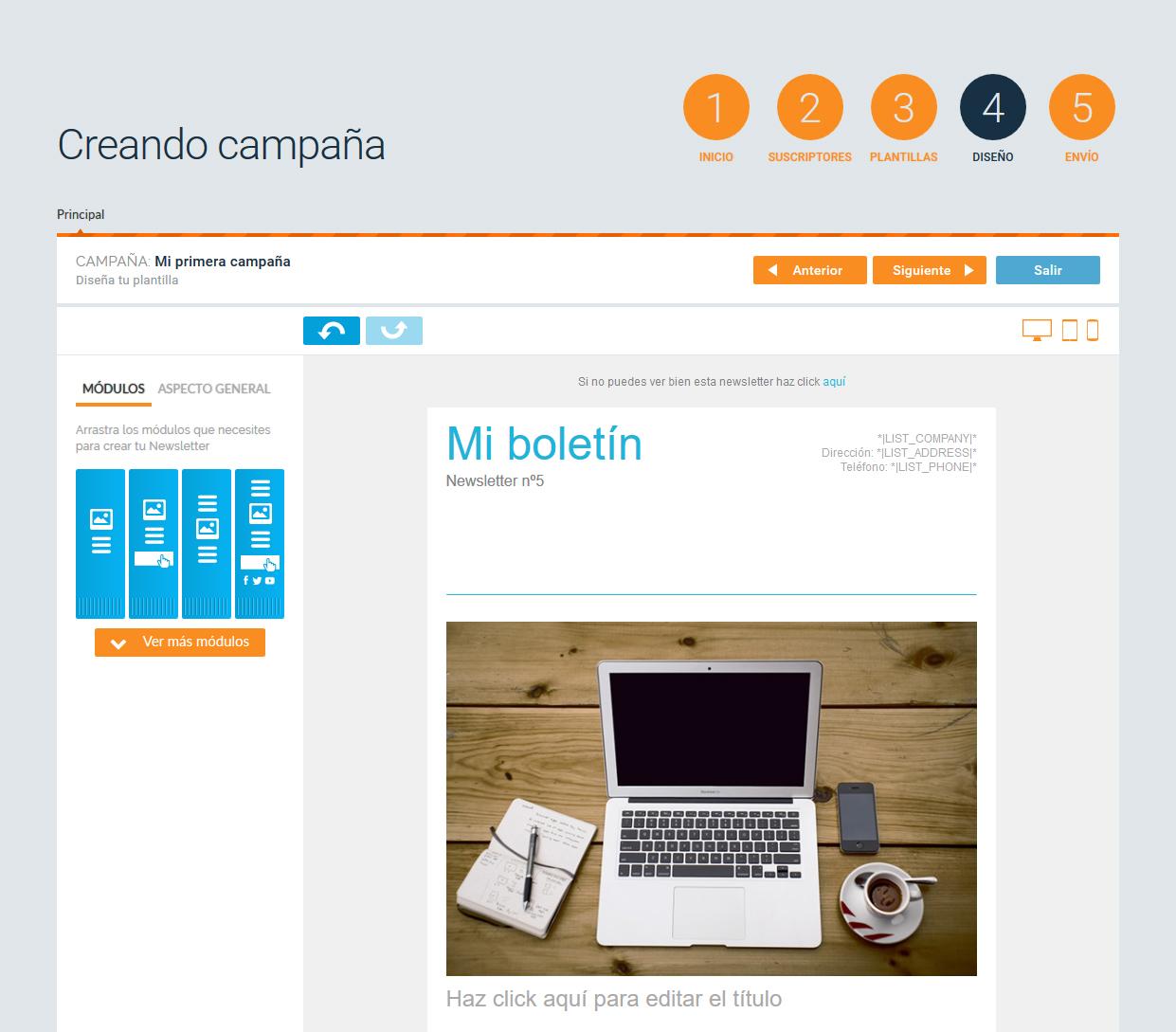 diseñar campaña de email marketing