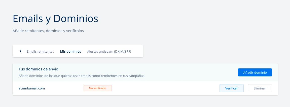 verificar dominio mailing