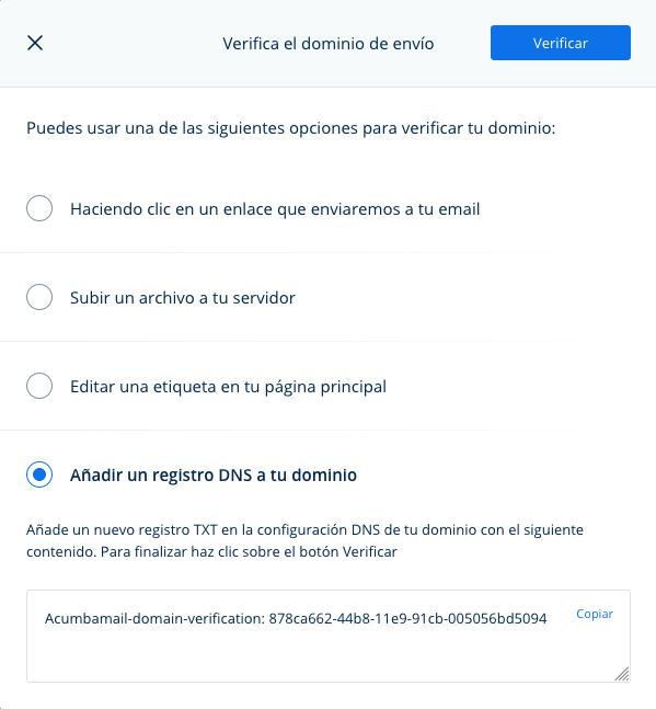 verificar dominio email
