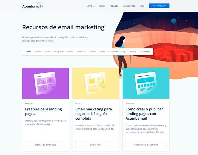 Email marketing, bulk SMS and landing pages