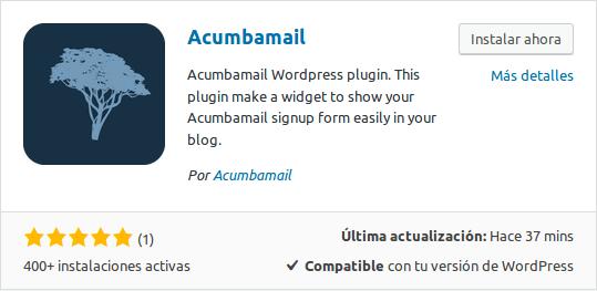 Añadir plugin de Wordpress desde el gestor de plugins
