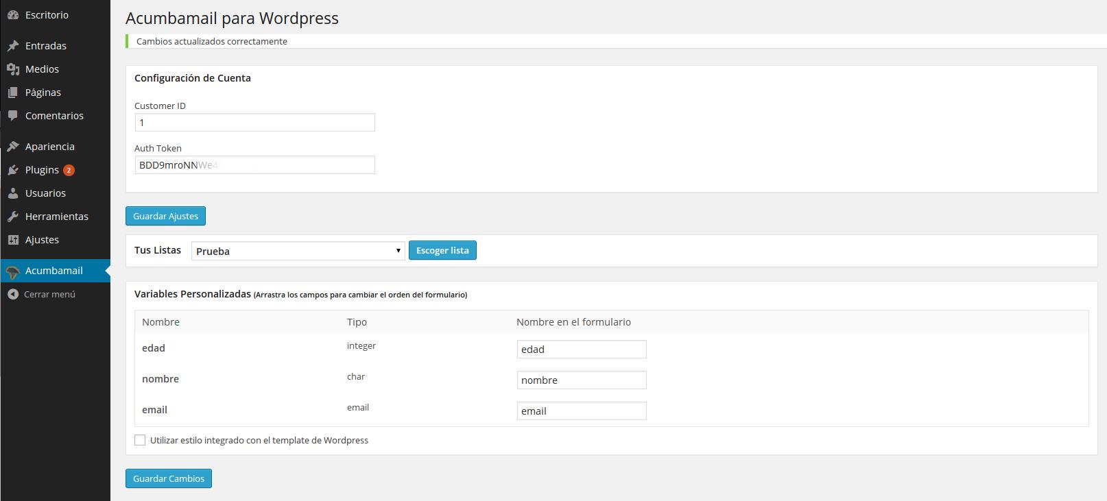 email marketing plugin para wordpress